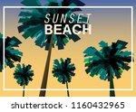 sunset beach at seashore  sea...   Shutterstock .eps vector #1160432965