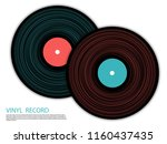 vinyl records isolated vector... | Shutterstock .eps vector #1160437435