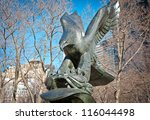 New York  Bronze Eagle...