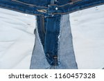 close up inside of jeans...   Shutterstock . vector #1160457328