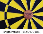 ripple coin in the middle of... | Shutterstock . vector #1160470108