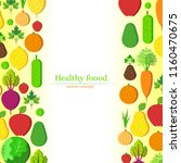 healthy food illustration with...   Shutterstock .eps vector #1160470675