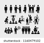business people and... | Shutterstock .eps vector #1160479102
