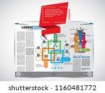business magazine  brochure... | Shutterstock .eps vector #1160481772
