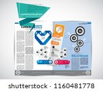 business magazine  brochure... | Shutterstock .eps vector #1160481778