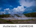 closeup of giant geyser  the...   Shutterstock . vector #1160483248