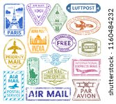 vector card stamps vintage... | Shutterstock .eps vector #1160484232