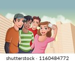group of cartoon young people... | Shutterstock .eps vector #1160484772