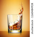glass of whisky with ice... | Shutterstock .eps vector #1160484928