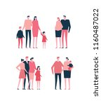 families   flat design style... | Shutterstock . vector #1160487022