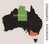 australia black colors...   Shutterstock .eps vector #1160493022