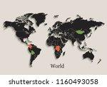 world map black colors...   Shutterstock .eps vector #1160493058