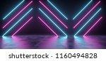 futuristic modern sci fi neon... | Shutterstock . vector #1160494828