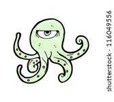cartoon angry octopus | Shutterstock .eps vector #116049556