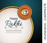 decorated rakhi for indian... | Shutterstock .eps vector #1160496178