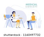 medicine concept with doctor... | Shutterstock .eps vector #1160497732