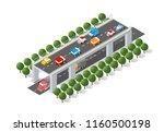 the bridge skyway of urban... | Shutterstock .eps vector #1160500198