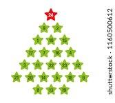 advent calendar green christmas ...   Shutterstock .eps vector #1160500612