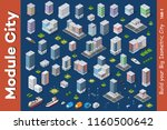 vector isometric urban... | Shutterstock .eps vector #1160500642