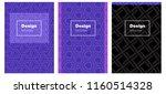 dark pink  blue vector cover...   Shutterstock .eps vector #1160514328