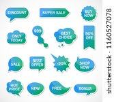 vector stickers  price tag ... | Shutterstock .eps vector #1160527078
