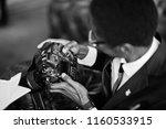 african american photographer... | Shutterstock . vector #1160533915