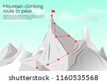 route to the top  concept... | Shutterstock .eps vector #1160535568
