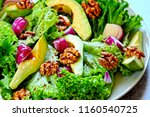 healthy and healthy food on a... | Shutterstock . vector #1160540725