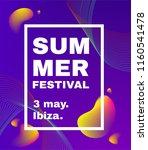 electronic music fest poster ... | Shutterstock .eps vector #1160541478