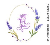 watercolor purple lavender... | Shutterstock . vector #1160543362