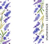 watercolor purple lavender... | Shutterstock . vector #1160543428