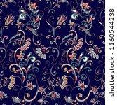 seamless pattern in ethnic... | Shutterstock .eps vector #1160544238