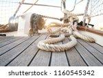 sailboat details  marine ropes | Shutterstock . vector #1160545342