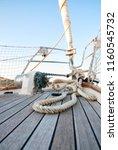 sailboat details  marine ropes | Shutterstock . vector #1160545732