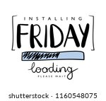 friday loading concept   vector ... | Shutterstock .eps vector #1160548075