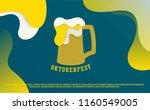 creative style oktoberfest... | Shutterstock .eps vector #1160549005