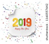 happy new year 2019. colorful... | Shutterstock .eps vector #1160557642