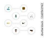 set of corsair icons flat style ... | Shutterstock .eps vector #1160561962