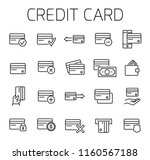 credit card related vector icon ... | Shutterstock .eps vector #1160567188