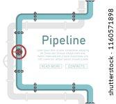 pipeline design background... | Shutterstock .eps vector #1160571898