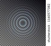 ripple effect top view.... | Shutterstock .eps vector #1160577382