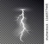 lightning bolt isolated on dark ... | Shutterstock .eps vector #1160577445