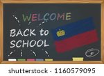 back to school with learning... | Shutterstock .eps vector #1160579095