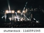 music band group silhouette... | Shutterstock . vector #1160591545