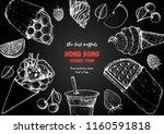 hong kong waffle hand drawn... | Shutterstock .eps vector #1160591818