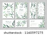 eucalyptus design. wedding... | Shutterstock .eps vector #1160597275