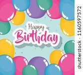 happy birthday card with... | Shutterstock .eps vector #1160597572