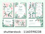 floral wedding invite with... | Shutterstock .eps vector #1160598238