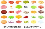 ingredients burger designer.... | Shutterstock .eps vector #1160599942