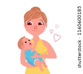 the mother's character with a... | Shutterstock .eps vector #1160600185